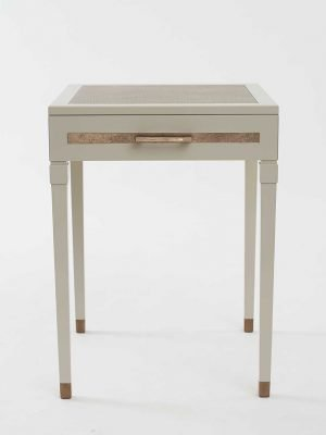 Evo Bedside Table (CE316) Leather Top