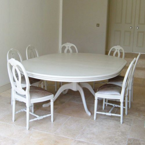 Gustavian Oval Pedestal Table (G401)